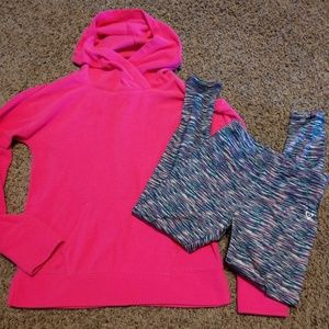 Justice leggings and hoodie set.  Size 8.